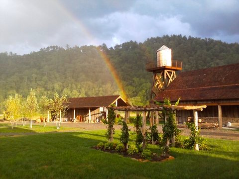 Rainbow at Pure Water Farm near Knoxville