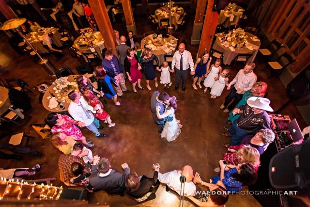 First dance at Pure Water Farm barn wedding near Gatlinburg