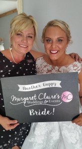 Our wedding coordinator with a happy bride - Smoky Mountain wedding packages all inclusive