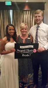 Wedding coordinator with a happy couple near Maryville Tennesse
