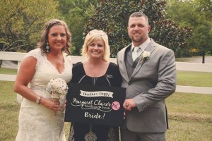 Wedding Coordinator with a happy bride and groom near Knoxville Tennessee
