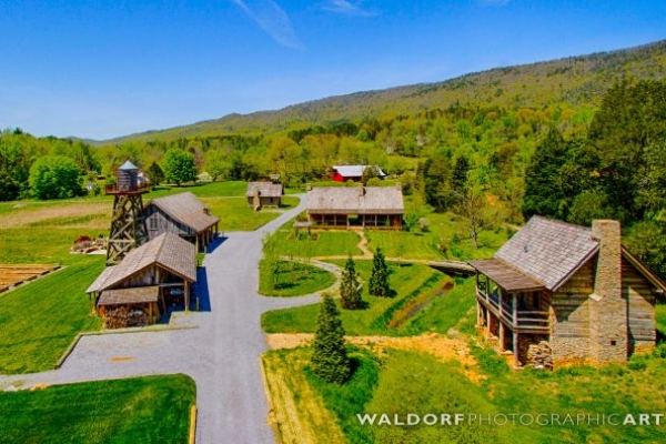 Pure Water Farm Aerial Smoky Mountain Wedding Venues