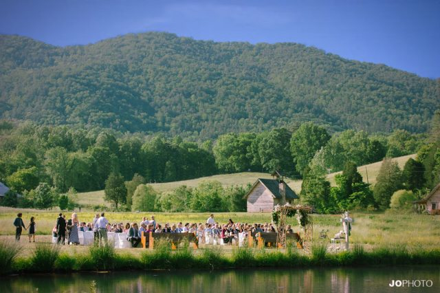 Outdoor wedding venue Maryville, TN
